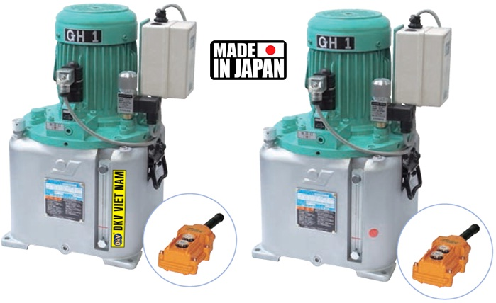 bom dien thuy luc Osaka 1 chieu GH1, Osaka single acting electric hydraulic pump, valve dien tu