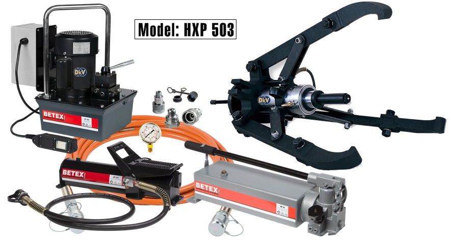 cao thuy luc, hydraulic puller, HXP 503, Betex, holland